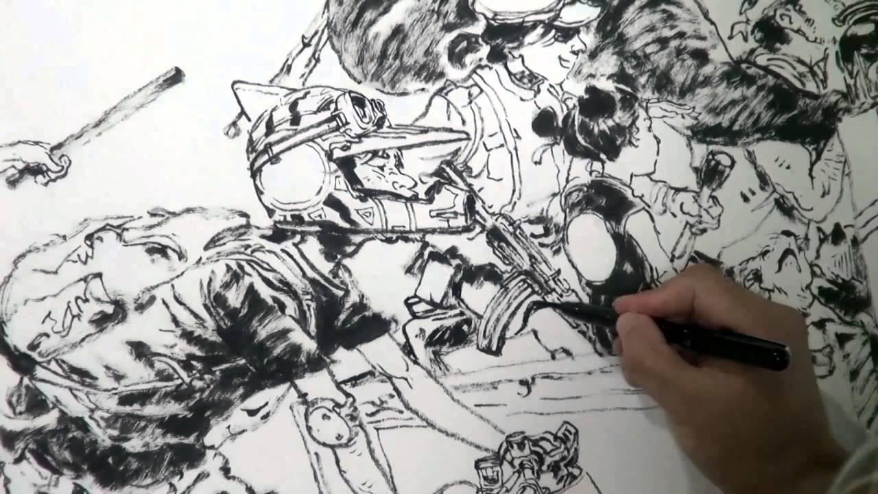 김정기 Kim Jung Gi Drawing Show In China