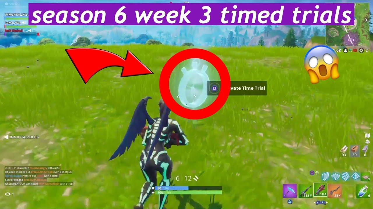 fortnite season 6 week 3 times trials - where are the time trials fortnite season 7