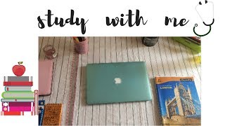 Study with me || Time lapse || Med school