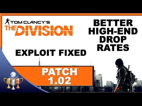 The Division 1.02 Patch Notes - Exploits, Better High End Drop Rates, Phoenix Credits And More