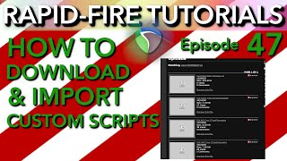 How to Download & Import Custom Scripts in Reaper (Rapid-Fire Tutorials Ep47)