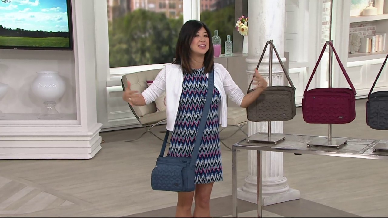 Lug Quilted Flap Crossbody Bag Wings On Qvc Youtube