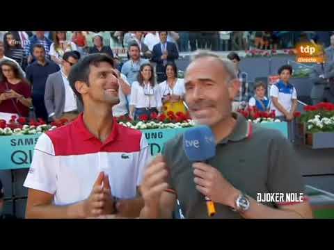 Novak Djokovic Speaks Spanish, English & French - Madrid 2018 (HD)