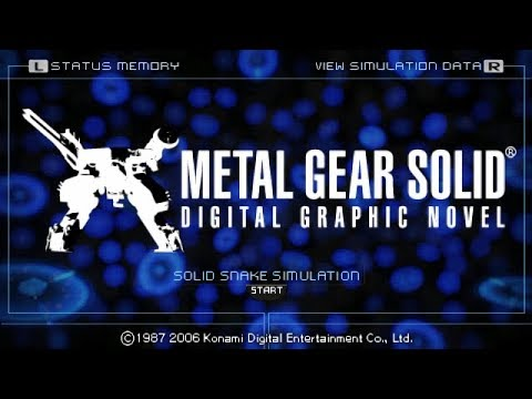 "Metal Gear Solid: Digital Graphic Novel PSP ""Playthrough"" - My Kind Of ""Book"""