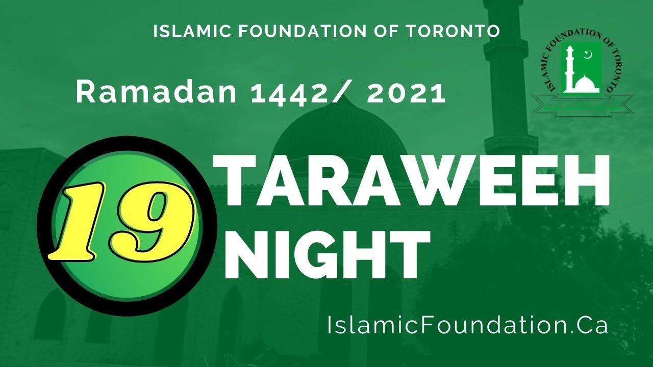 Download Taraweeh LIVE - 19th Night Ramadan - May 1, 2021