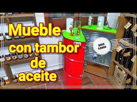 DIY Como hacer un mueble con tambor de aceite ( Furniture whit oil pan)