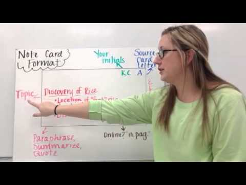 Note Cards for Research Paper - YouTube - online note cards