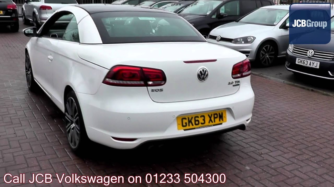 2013 volkswagen eos sport bluemotion 2l candy white