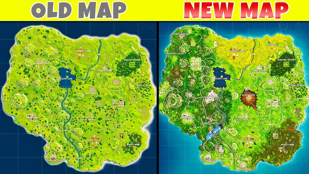 10 BIGGEST Map Changes in Fortnite | Chaos - YouTube
