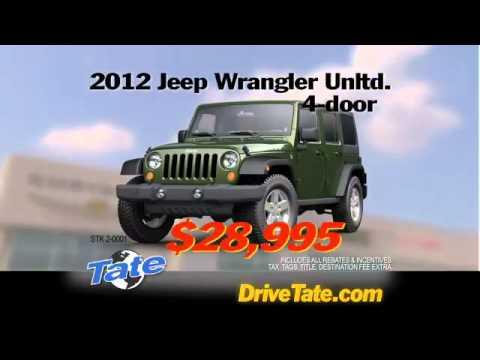 TV COMMERCIAL: Tate Chrysler-Jeep-Dodge-Ram - YouTube