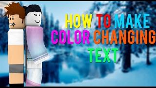 TUTORIAL | Como fazer cor mudando texto em Roblox (READ DESC)
