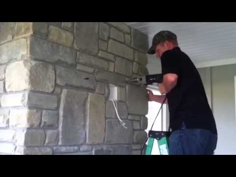 Hanging A Tv On A Rock Wall Youtube