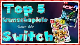 Top 5 Wunschspiele für die Nintendo Switch