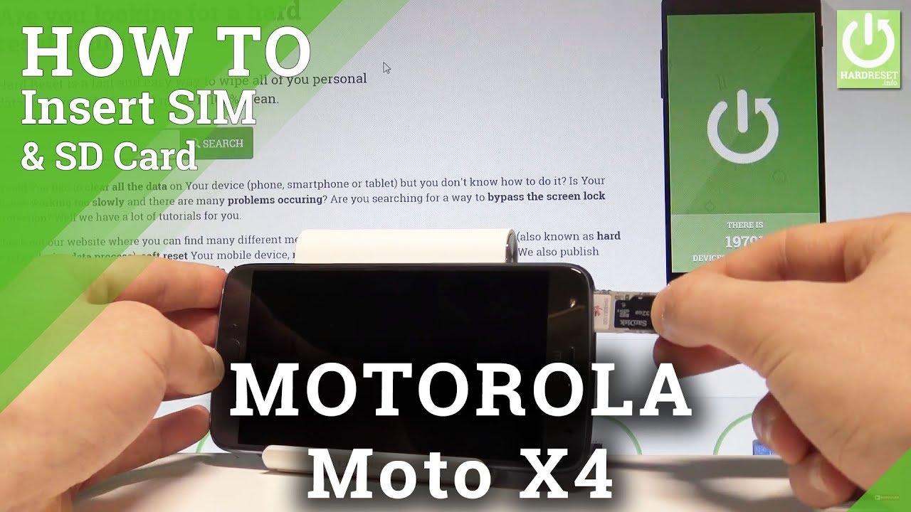 Motorola Moto X4 Insert Sim Sd Set Up Sim And Sd Card