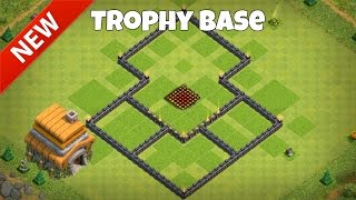 NEW TH6 TROPHY BASE! Best Ever 2016 CoC Town Hall Six Defense Layout! (Clash of Clans)