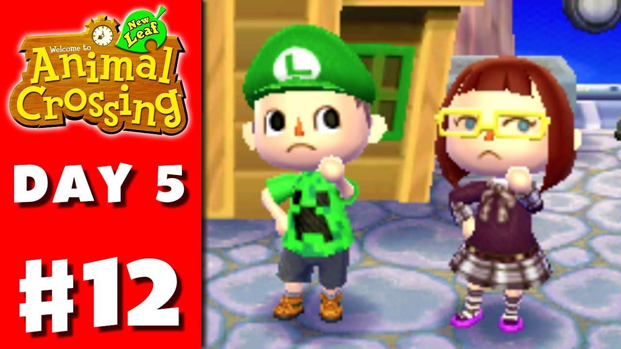 Animal Crossing New Leaf Part 12 Luigi Hat Nintendo 3ds Gameplay Walkthrough Day 5 Youtube