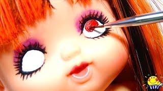 メルちゃん リカちゃん魔女のメイク美容室で仮装パーティー❤  怖可愛い...