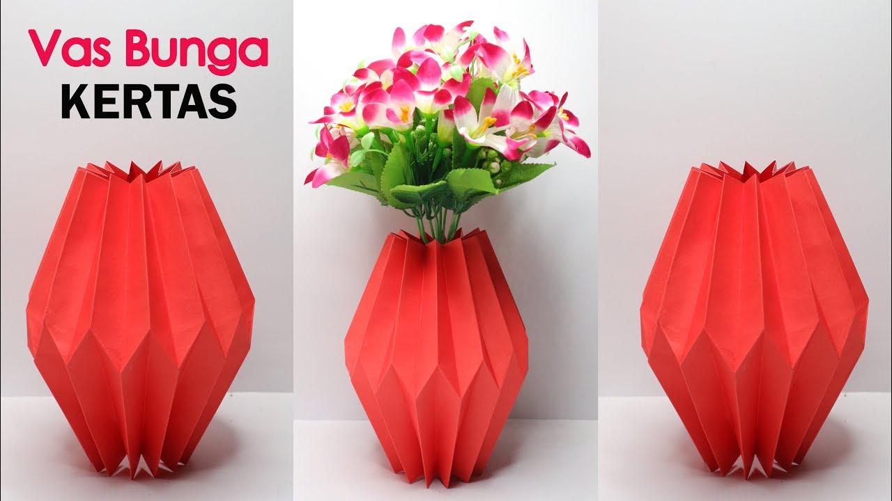 Vas Bunga Dari Kertas Mudah Banget Youtube