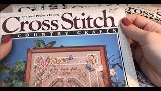 51. Обзор журналов Cross Stitch and Country Crafts 88 89 года