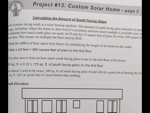 Calculating South-facing Glass and Thermal Mass for Model Solar Home Project [Solar Schoolhouse]