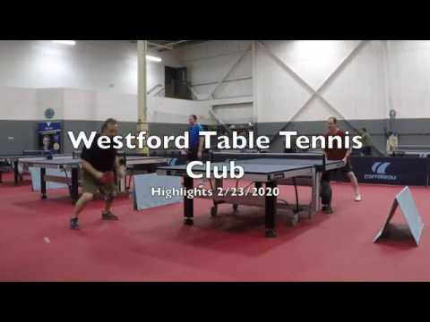 Westford Table Tennis Club Highlights 02-23-2020