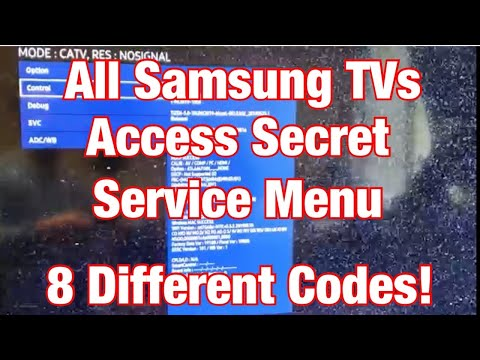 "How to Access Secret ""Service Menu"" for All Samsung TVs"