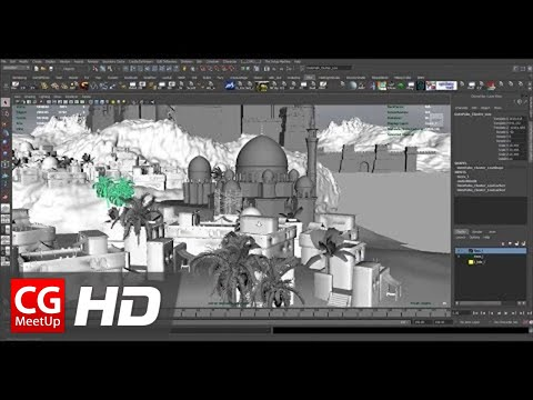 """CGI 3D Tutorial HD """"Creating An Ancient Persian City in 3D"""" Part 1 by Mike Stoliarov 