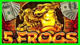 BIG WINS! ***SUPER FEATURE*** 5 Frogs Slot Machine BONUSES! I LOVE MYSTERY PICK!