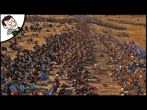 HUGE SELEUCID EMPIRE v EGYPT BATTLE! Ancient Empires Total War Gameplay