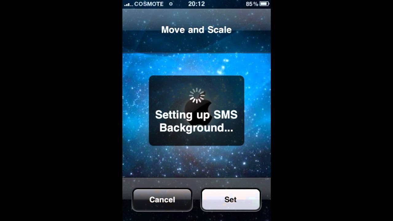 how to change sms or desktop background on the iphone