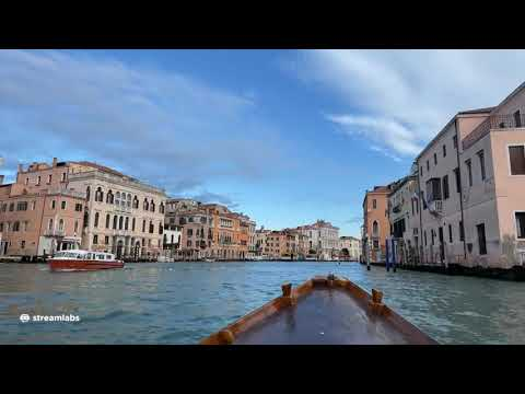 Live Venice  (Jan 15, 2021) - The Grand Canal by boat