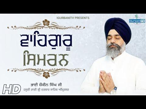 Very Best Waheguru Simran   Bhai Shokeen Singh Ji Hajuri Ragi Sri Darbar Sahib   IGurbani Tv