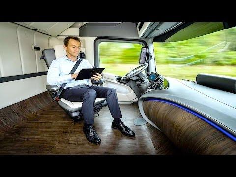Dünyanın EN GELİŞMİŞ TIRI Şoförü DİNLENİRKEN Giden Tır Mercedes Üretti Akıllı Teknoloji