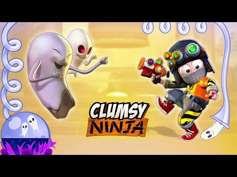 Clumsy Ninja - Halloween Ghost Catcher Extraordinaire