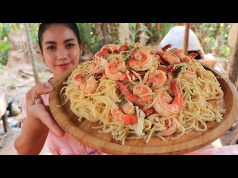 Amazing cooking spaghetti with shrimp recipe