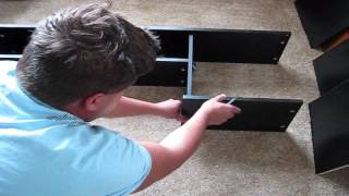 Unboxing And Assembling Mainstays L-shaped Desk With Hutch