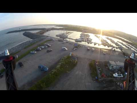 Second quadcopter flight looking over Burry Port Harbour