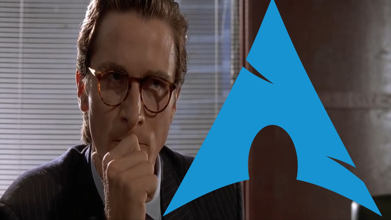 Comparing Arch Linux Rices (American Psycho Business Card Scene ...