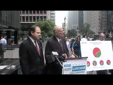 Rory Lancman press conference with Ed Koch 5-16-12