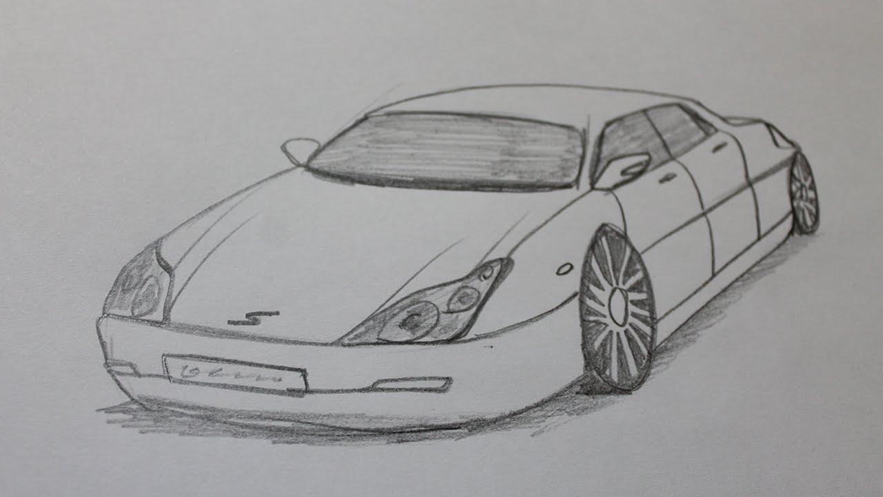 Comment dessiner une voiture de luxe youtube - Dessiner une voiture facile ...