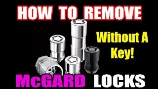 HOW TO REMOVE WHEEL LOCKS WITHOUT KEY
