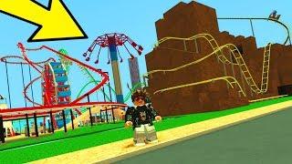 ZBUDOWAŁEM KOLEJKĘ GÓRSKĄ W ROBLOX! Theme Park Tycoon 2