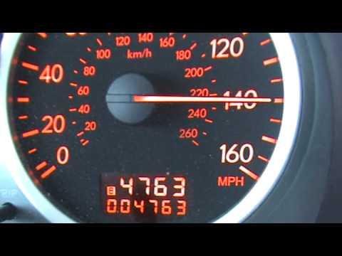 Top Speed in STI - 154 mph - YouTube