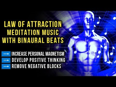 Law of Attraction Relaxing Meditation Music ➡️ Increase Personal Magnetism | Binaural Beats (396Hz)