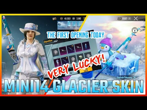 ONLY 80 SPIN GET MINI 14 GLACIER SKIN UPGRADED, OPENING MINI14 ICICLE AT LUCKY SPIN PUBG MOBILE