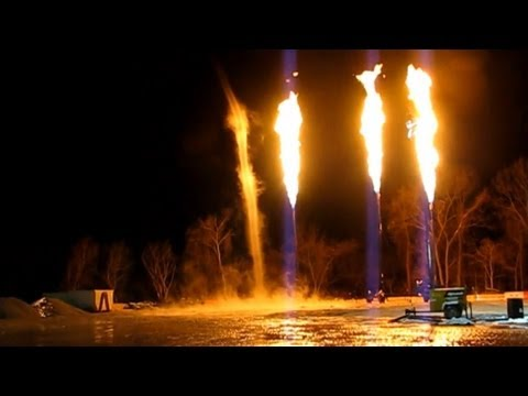 Gas Well Flaring - Marcellus Shale Reality Tour Part 4 - Fracking