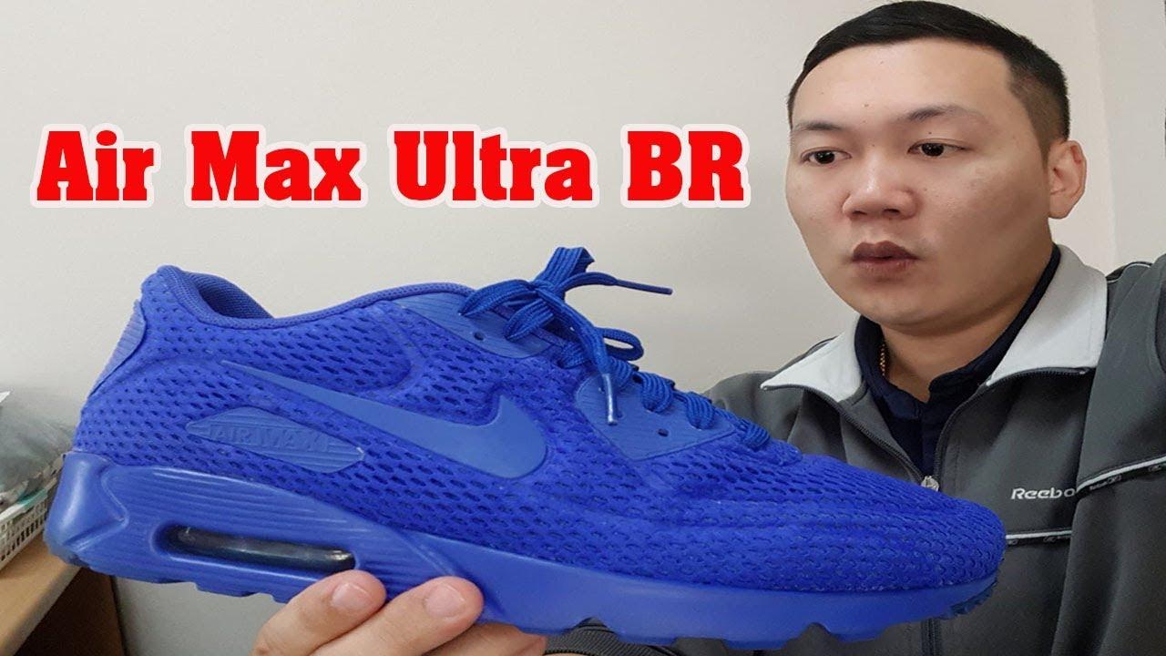 Medio Consultar Ministro  Nike Air Max 90 ULTRA BR (RACER BLUE/Crimson) | ioak รีวิว - YouTube