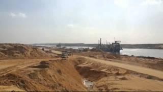 شاهد: فيديو حصرى أول 3كيلو كاملة من قناة السويس الجديدة بالقطاع الجنوبي