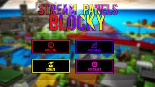 Free Twitch Panels - Blocky Roblox - PSD - Free Download