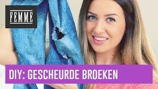 DIY: Gescheurde broeken - FEMME
